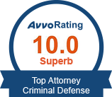 Avvo Rating 9.9 Criminal Law