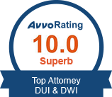 Avvo Rating 10.0 DUI
